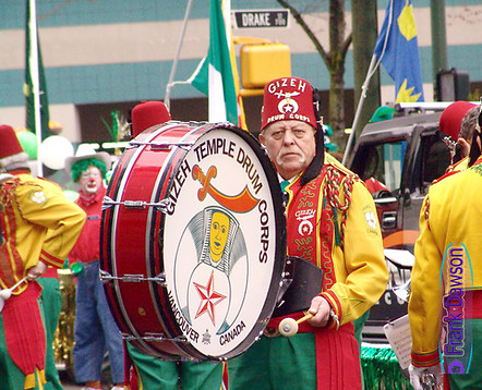 Shriner's at St. Patrick's Day Parade in Vancouver by Frank Dawson