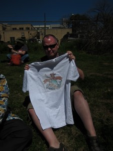 John Biehler Rocks a Custom Hootsuite short at SxSW
